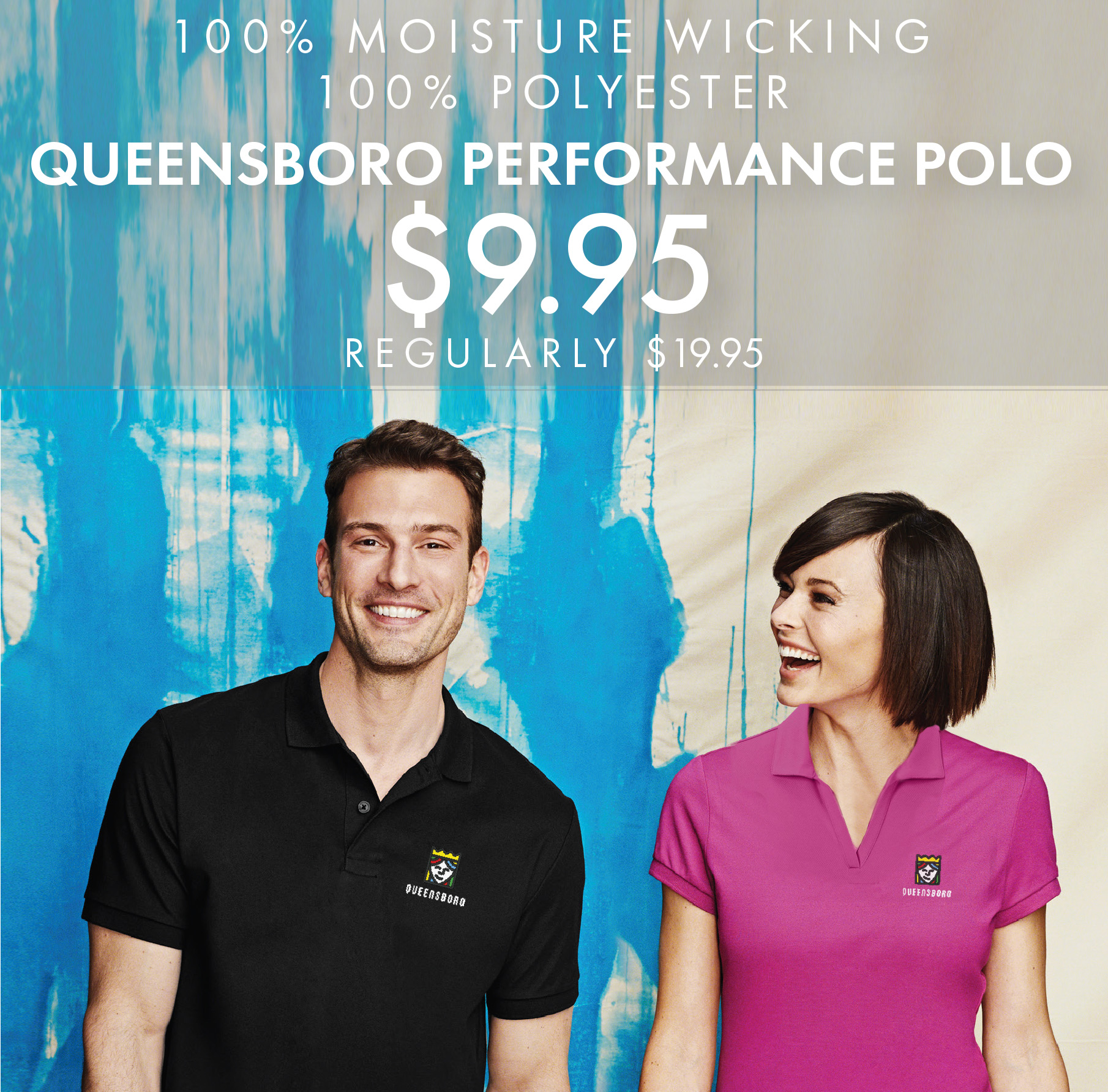 Custom Embroidered Queensboro All-Purpose Performance Polos