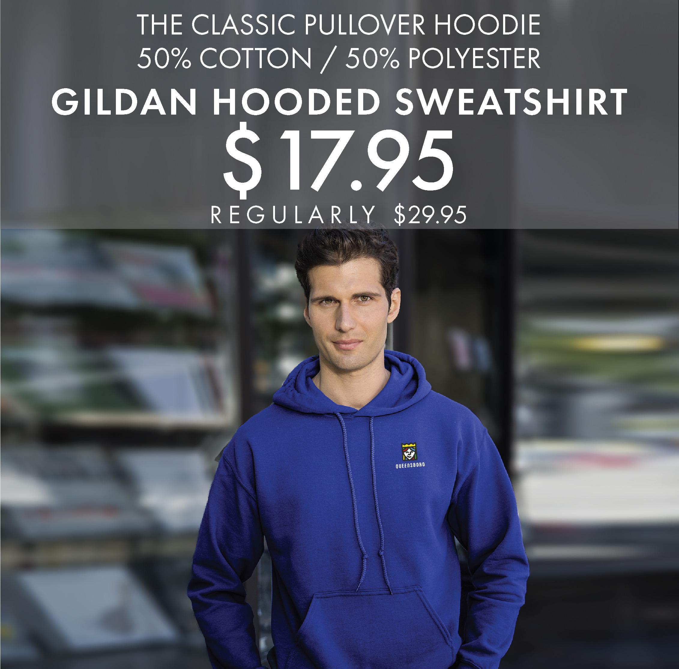 Custom Embroidered Gildan Hooded Sweatshirts