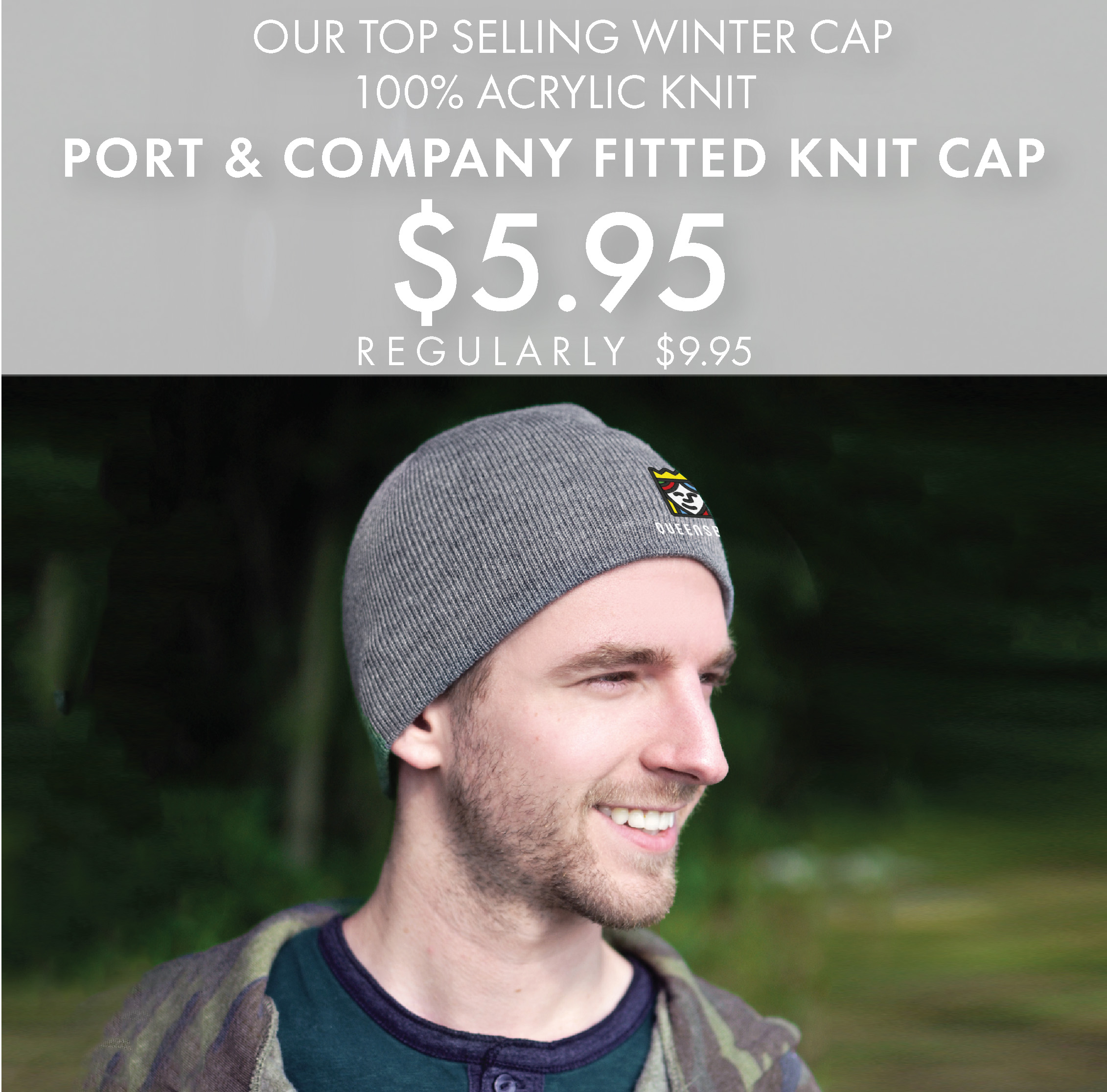 Custom Embroidered Port & Company Fitted Knit Cap