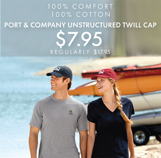 Custom Embroidered Port & Company Unstructured Twill Caps