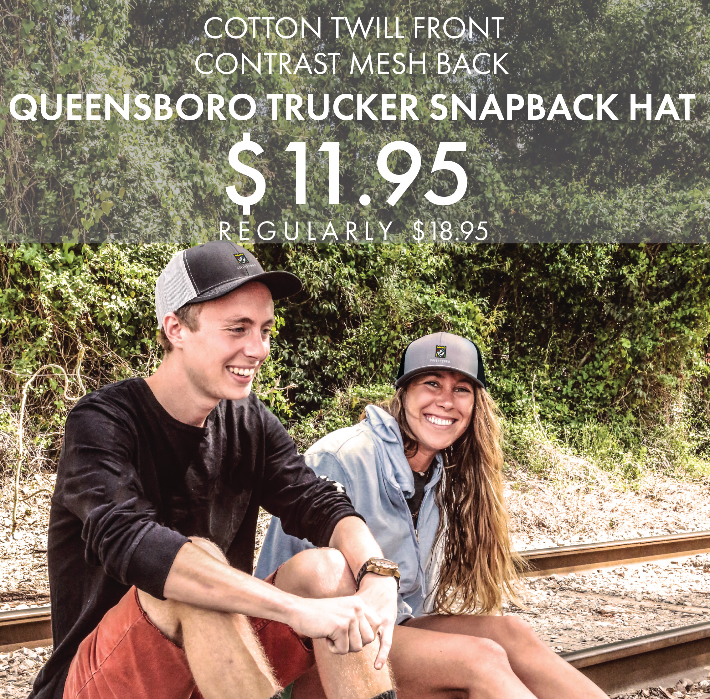 Custom Embroidered Queensboro Trucker Snapback Hats