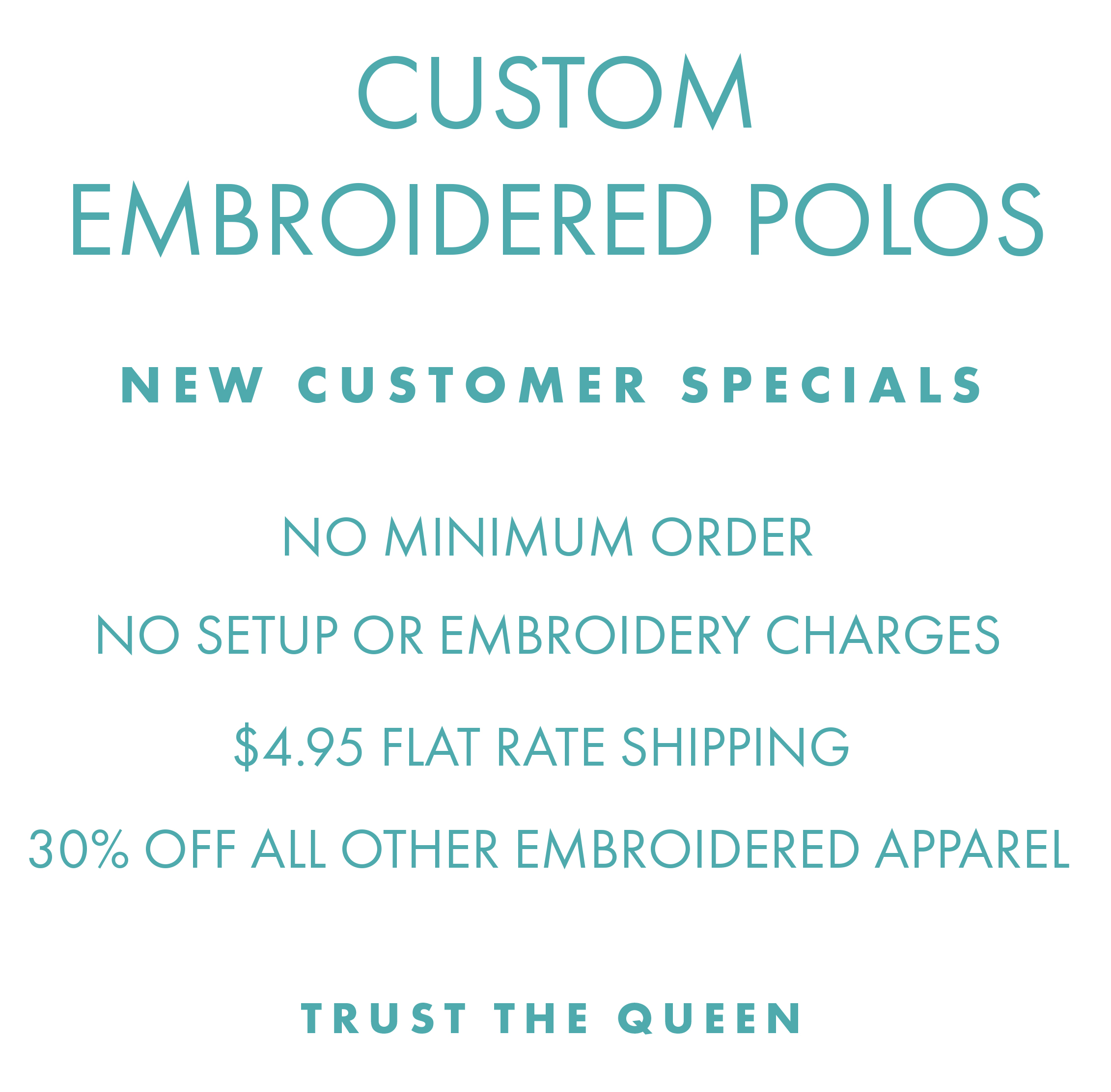 08d3dac2119 30% off Custom Embroidered Shirts   Polos - Queensboro