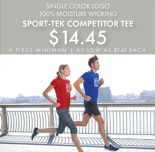 One-Color Custom Printed Sport-Tek Competitor Tees!