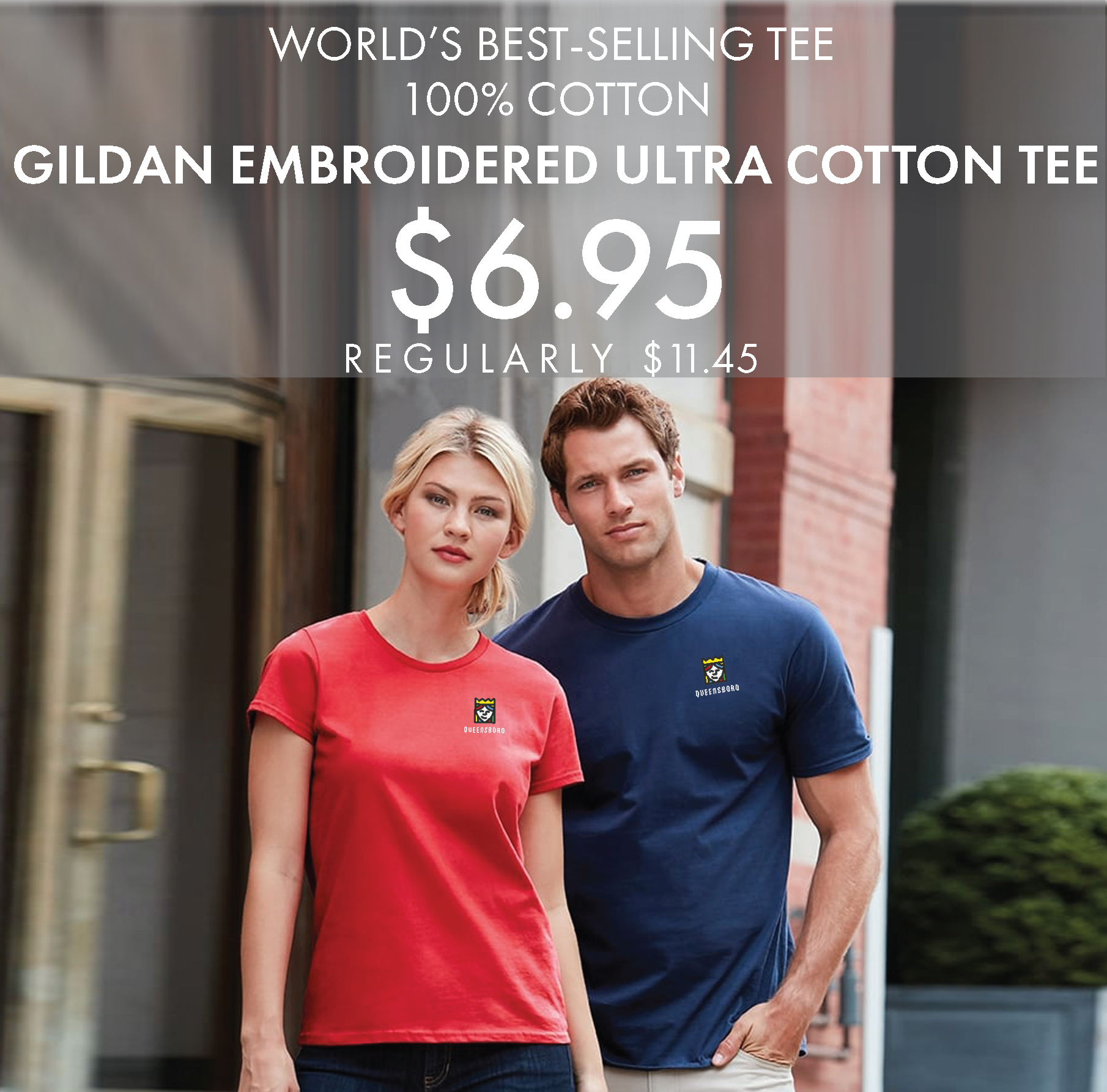 Custom Embroidered Gildan Ultra Cotton Tees