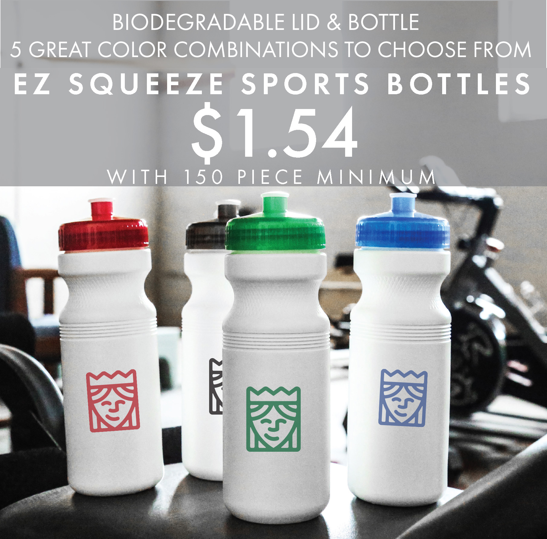 Custom Printed EZ Squeeze Sports Bottles